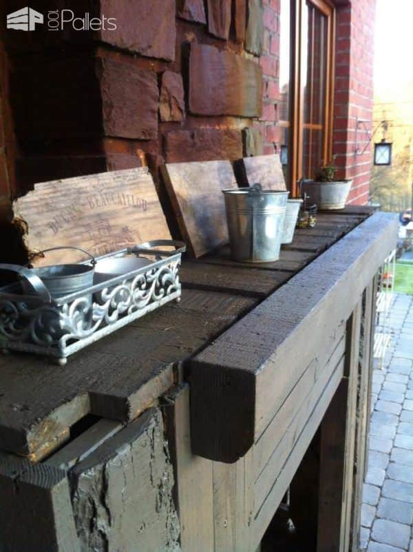Pallet Outdoor Fireplace 4