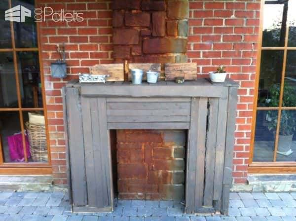 Pallet Outdoor Fireplace 1