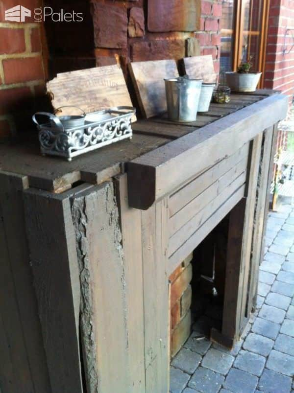 Pallet Outdoor Fireplace 3