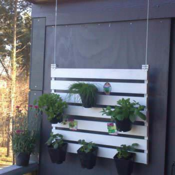 Suspended Pallet Vertical Garden For Your Balcony