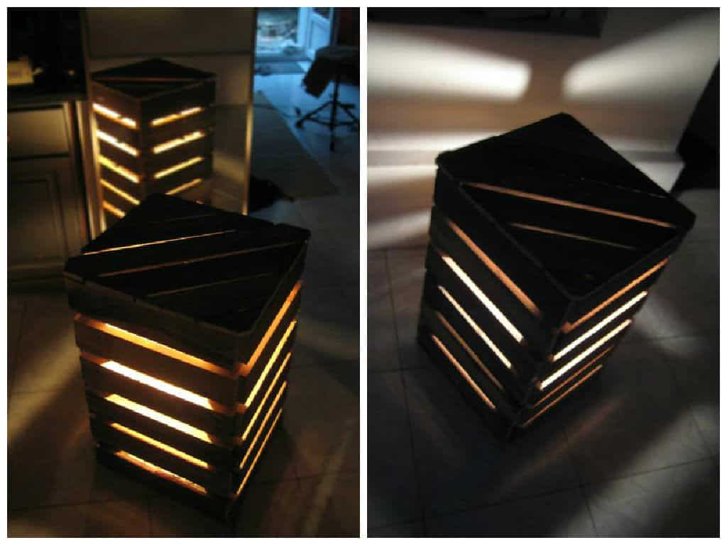 Upcycled Pallet Cube Light 1001 Pallets