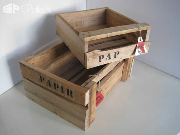 Wooden Boxes Made Of Pallet Wood Pallet Boxes & Chests