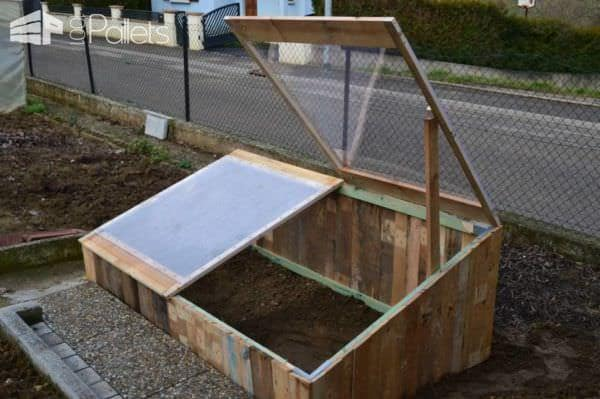Pallet Greenhouse For 10$ Pallet Planters & Pallet Compost