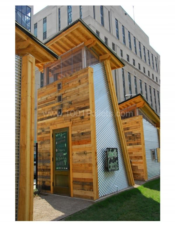 shed 600x776 Garden shed made out of pallets in pallet outdoor project pallets architecture  with shed Pallets House