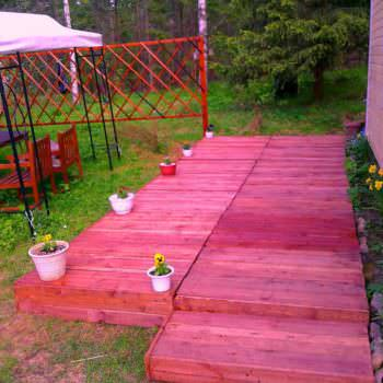 2.4 X 5.60m Terrace Made with 14 Pallets
