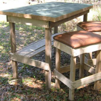 Bar And Stools From Repurposed Pallets