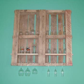 Copas Y Pallets / Pallet Wine Rack