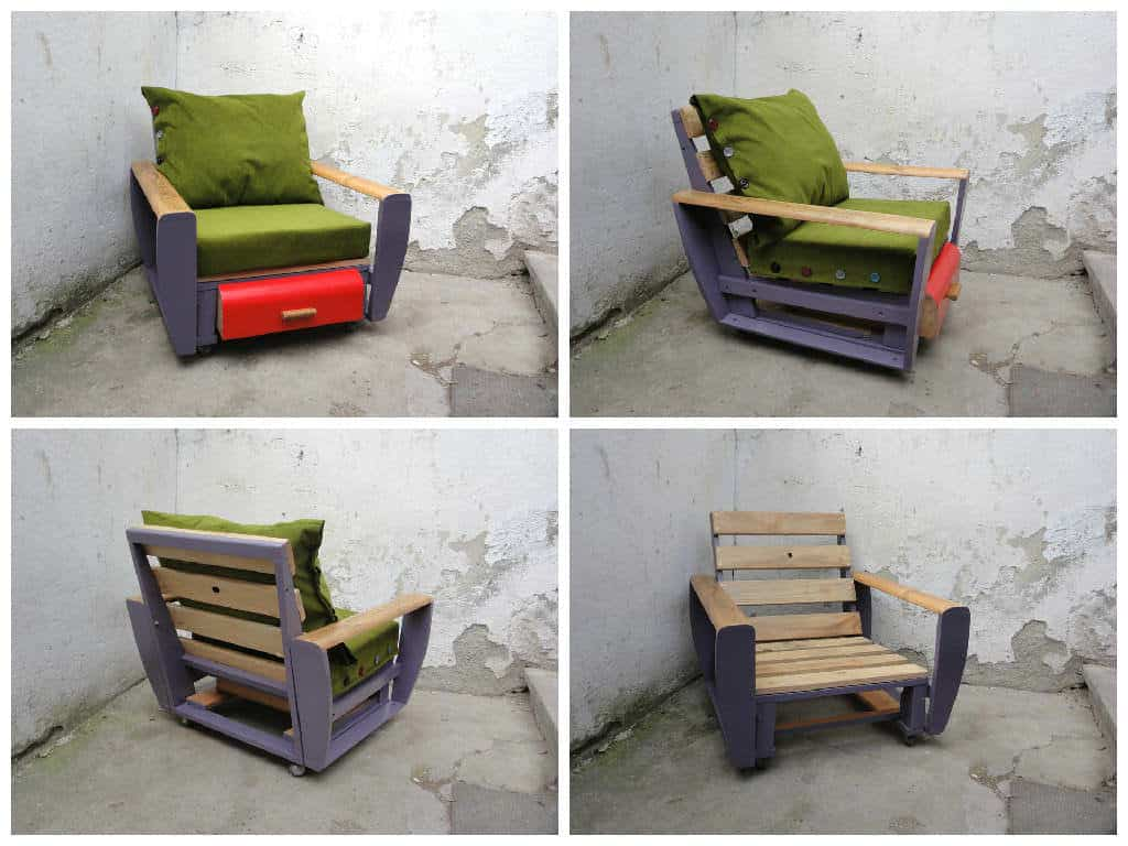 Custom pallet armchair 1001 pallets for Pallet armchair