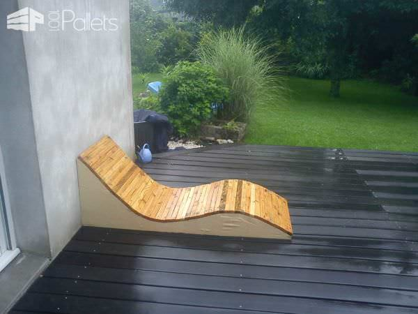 Design pallet garden seats 1001 pallets - Lounger for the garden crossword ...