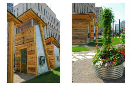 Garden Shed Made Out Of Recycled Pallets