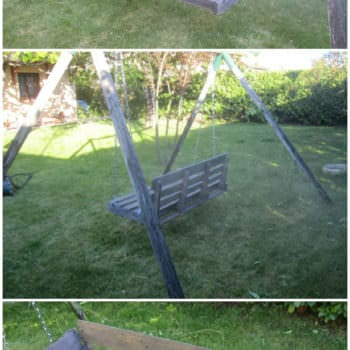 Garden Swing Armchair Made With Upcycled Pallet