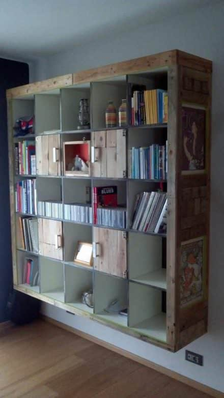 Ikea Hackers: Expedit Cabinet With Upcycled Pallets
