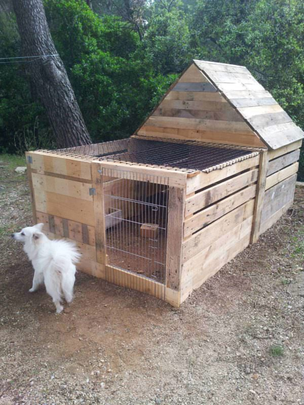 Maisonnette Pour Lapin / Pallet Rabbit's House Animal Pallet Houses & Pallet Supplies