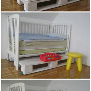 "Modular ""king Size"" Kids Pallet Bed Made With Upcycled Pallets"