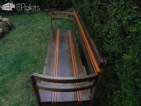 My Garden Bench Made From Pallet Boards & Two Old Chairs Pallet Benches, Pallet Chairs & Stools