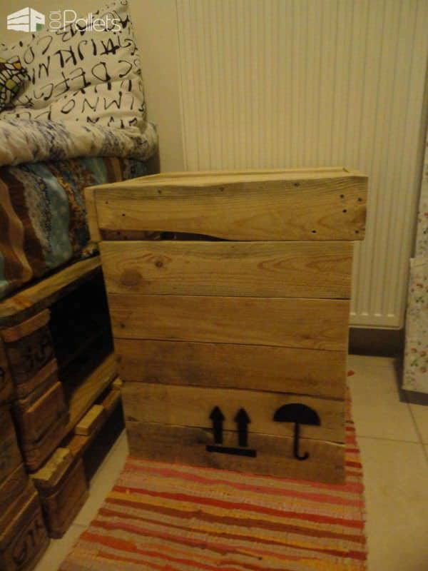 My Neighbour's Pallet Bed & the Bedside Project DIY Pallet Beds, Pallet Bed Frames & Pallet Headboards