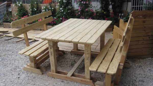 Outdoor Pallet Benches & Table Lounges & Garden Sets