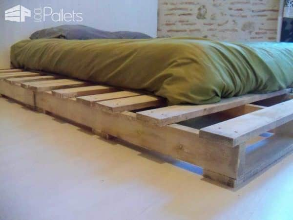 Pallet Bed Made From Recycled Pallets DIY Pallet Bedroom - Pallet Bed Frames & Pallet Headboards