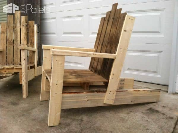 Pallet Chair For Outdoor Use Pallet Benches, Pallet Chairs & Pallet Stools