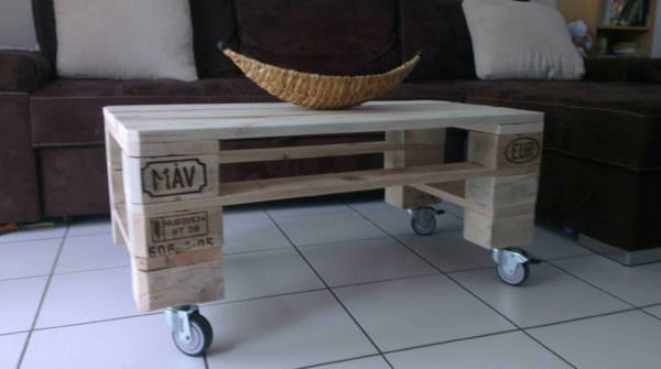 Pallet coffee table table basse de salon en palette recycl e 1001 pallets - Table de salon en palette ...
