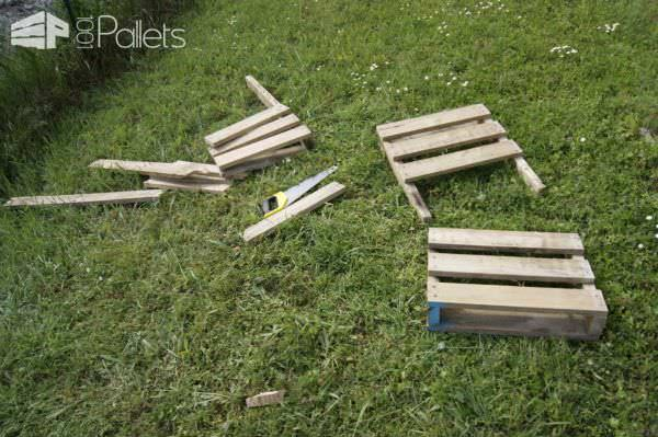 Pallet Garden Chair Made in 1h30 Min Pallet Benches, Pallet Chairs & Stools