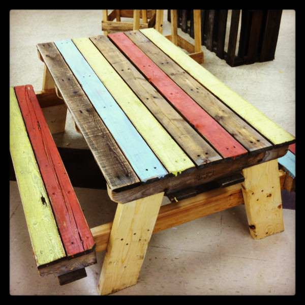 Pallet Kids Picnic Table Pallet Desks & Pallet Tables