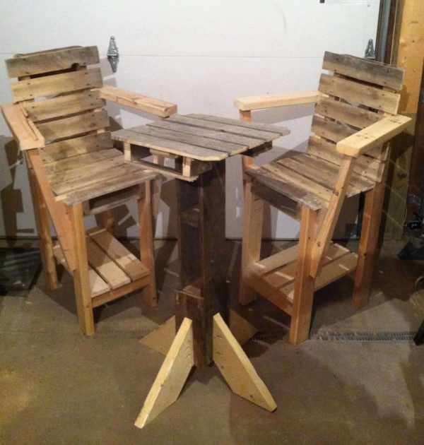 Pallets Furniture Pallet Benches, Pallet Chairs & StoolsPallet Desks & Pallet Tables