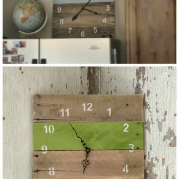 Reclaimed Pallet Clocks