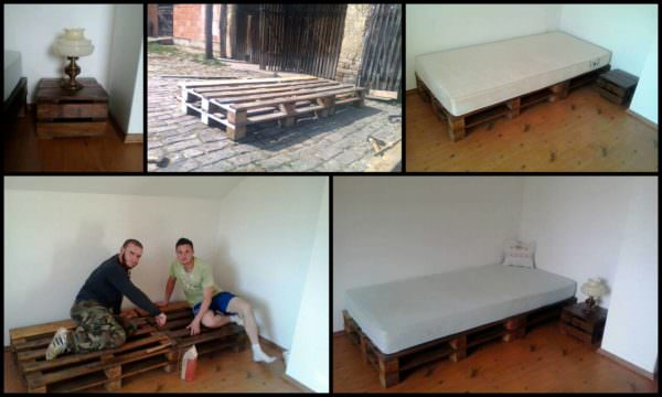 Recycled Pallets Bed DIY Pallet Beds, Pallet Bed Frames & Pallet Headboards