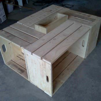 Table Basse Pour Le Salon En Bois De Palettes / Recycled Pallet Wood Coffee Table