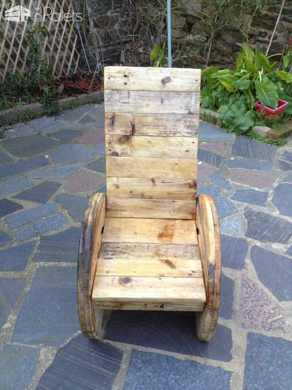 Upcycled Pallet And Reel Into Armchair Pallet Benches, Pallet Chairs & Stools