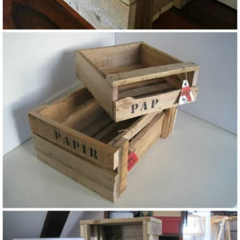Wooden Boxes Made Of Pallet Wood