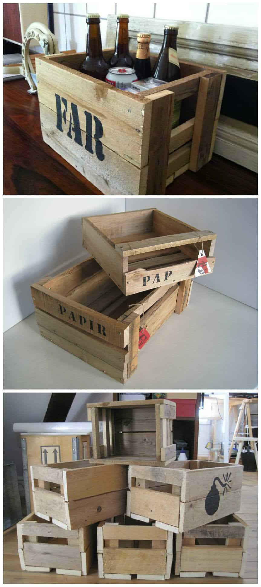 Wooden Boxes Made Of Pallet Wood 1001 Pallets