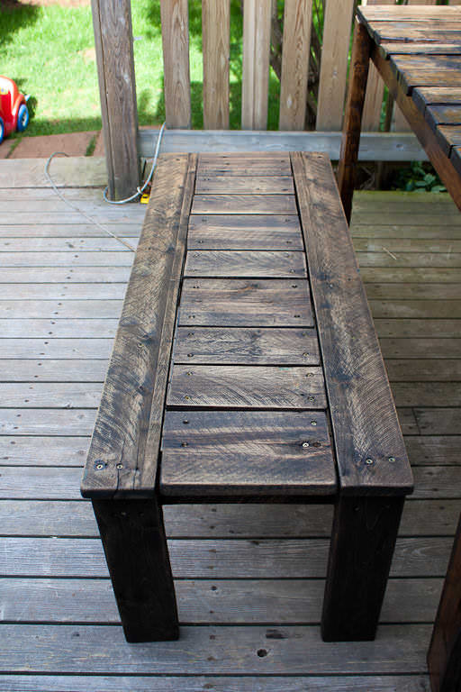 Outdoor Patio Set Made With Recycled Wooden Pallets Pallet Benches ...