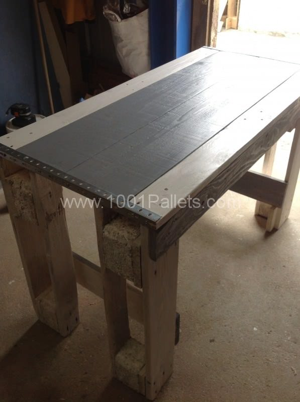 image5 597x800 Pallet Kitchen Table in pallet kitchen pallet furniture  with Table Pallets Kitchen Furniture
