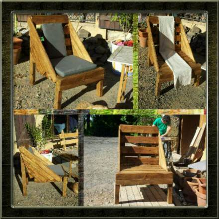 The use of pallets for garden creations !