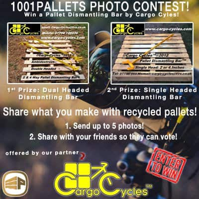 1001pallets Contest: Win a Pallet Dismantling Bar by Cargo Cycles Pallet Flooring