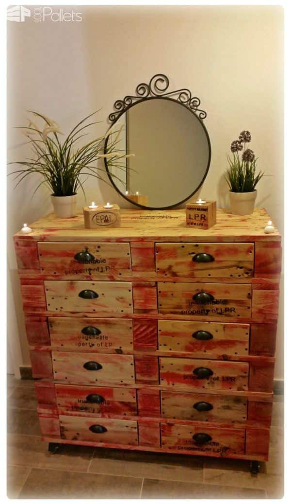 1001pallets Contest 1st Place: Dresser With 12 Drawers Pallet Cabinets & Wardrobes