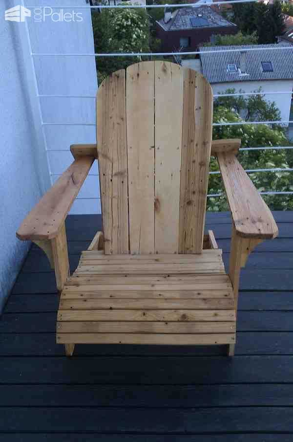 Adirondack Chair From Repurposed Euro Pallet Pallet Benches, Pallet Chairs & Stools