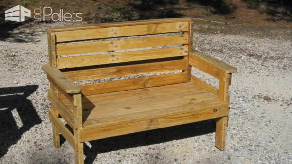 Complete Garden Set Made Out Of Repurposed Pallets Pallet Benches, Pallet Chairs & Stools