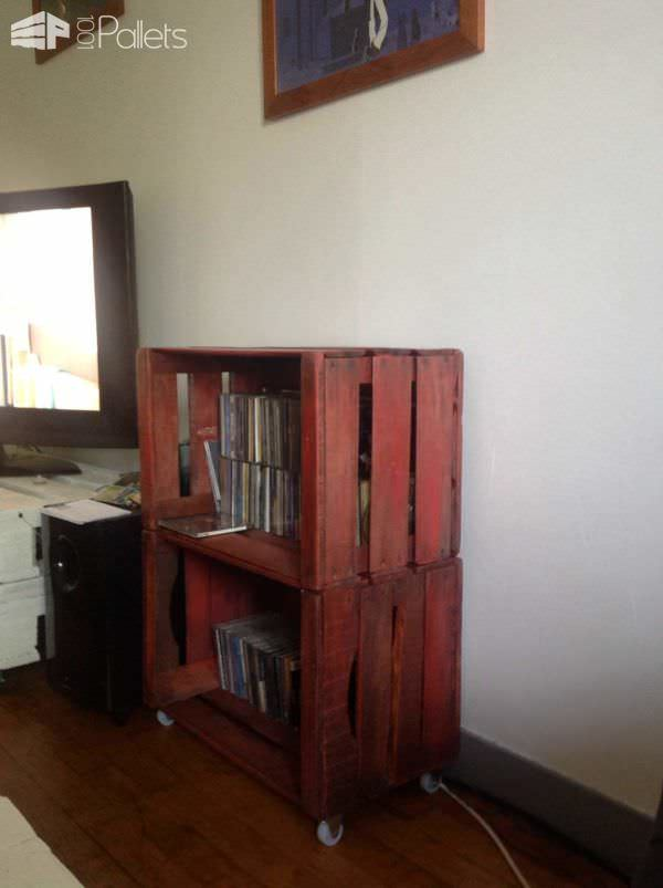 Furniture From Upcycled Wooden Crates Pallet Cabinets & Pallet Wardrobes
