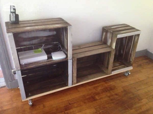 Furniture From Upcycled Wooden Crates Pallet Cabinets U0026 Pallet Wardrobes