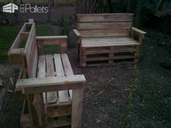 Garden Benches From Reclaimed Wooden Pallets Lounges & Garden SetsPallet Benches, Pallet Chairs & Stools