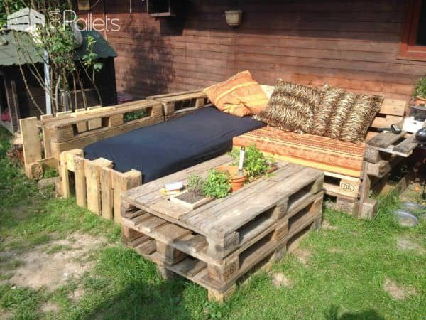 garden pallet lounge 1001 pallets. Black Bedroom Furniture Sets. Home Design Ideas