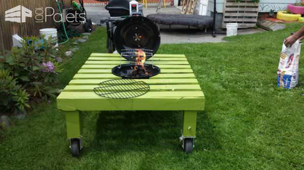grill-table-2 - Grill/Fire Pit Table Made Out Of Repurposed Pallet • 1001 Pallets