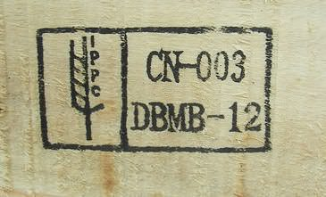 Pallets from China are notoriously unsafe, and this pallet shows a DB (debarked) MB (methyl bromide) stamp.