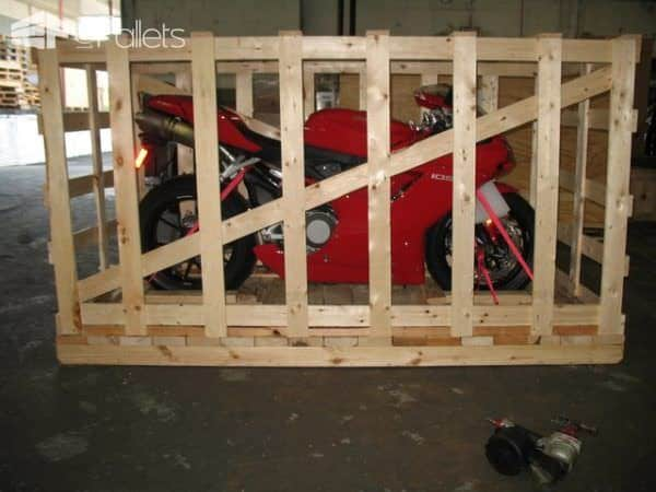 Local-use pallets can be very Safe as they're built for a single use to ship brand-new products like motorcycles and science equipment.