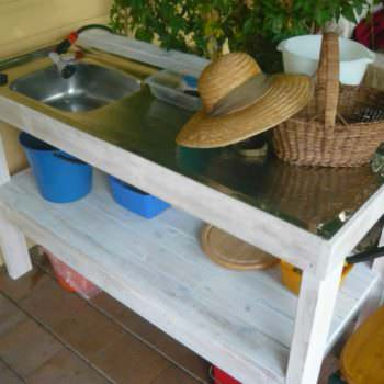 Indoor/Outdoor Pallets Kitchen Sink