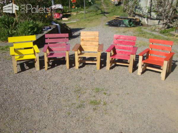 Kids Armchairs Project With Recycled Pallets Fun Pallet Crafts for Kids Pallet Benches, Pallet Chairs & Stools
