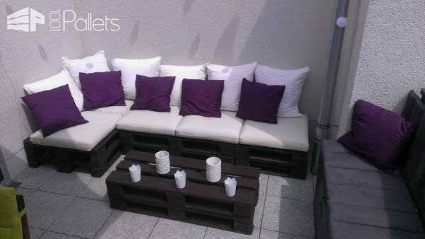 Lounge Area / Sonnendeck :-) Pallet Sofas & Couches